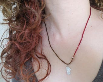 Stretch Necklet -  Wine and Chocolate