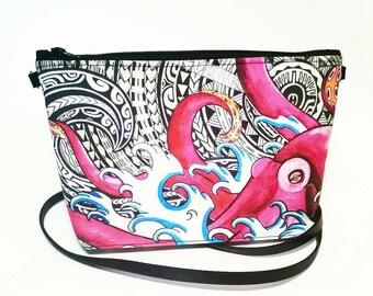Tattoo Octopus crossbody bag
