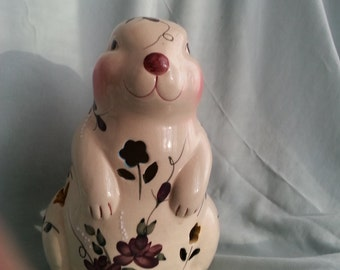 Beautiful Bunny, Easter,scented candles,medium size,ceramic,hand painted
