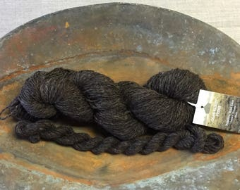 """Hand-Spun 100% Wool Yarn """"Chocolate Brown"""" Hand-Washed, Carded, Spun, Natural Colored, 2 ply, Knit, Crochet, Weave, 282+ yards"""