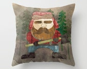 Kids Fun Bedding, Lumberjack Decor, Throw Kids Pillow, Cool Pillows, Rustic Home Decor, Gifts For Him, For Boyfriend, Toddler Bedding Boy