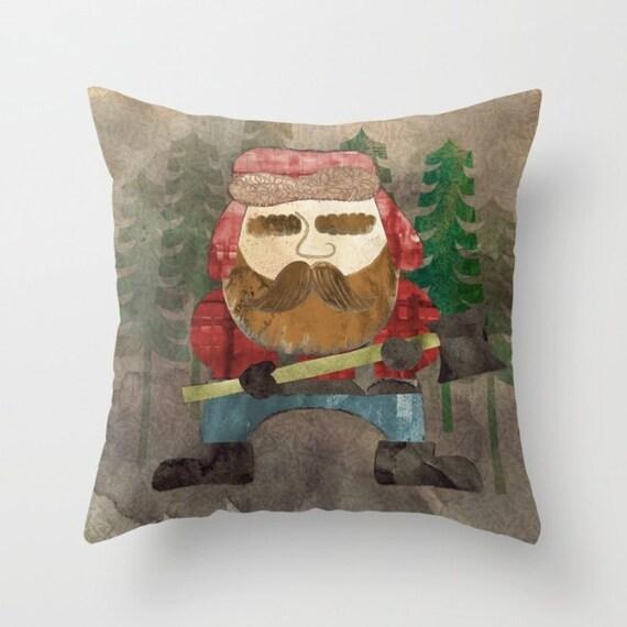 Fun Throw Pillows For Bed : Kids Fun Bedding Lumberjack Decor Throw Kids Pillow Cool
