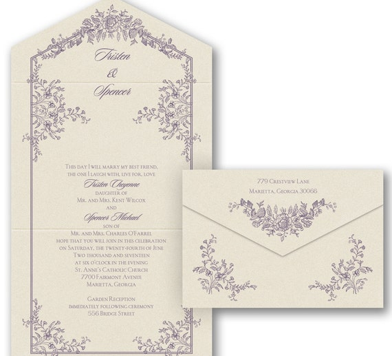 Affordable Seal And Send Wedding Invitations