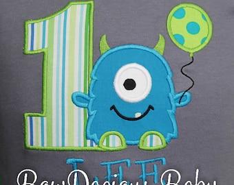 Monster Birthday Shirt, Birthday Shirt for Boys, Monster Birthday Outfit,Monster 1st Birthday, Custom Birthday Shirt, Boy Birthday Party