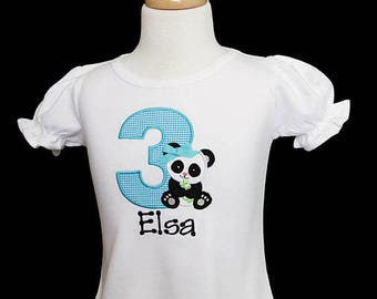 Girls Panda Birthday Shirt or Bodysuit