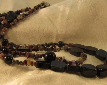 Tourmaline and Onyx Necklace