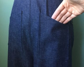 1930s 1940s   front pockets denim work pants     custom made for your size