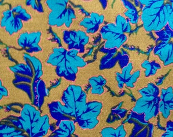 Phillip Jacobs Ivy, turquoise, OOP, rare, Kaffe Fassett collective, by the half yard