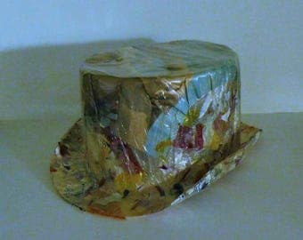 Naughty and Nice Girlie Party Hat 1950's - 1960's Risque Top Hat