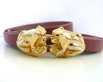 Vintage Jeanne Bouchever Frog Belt