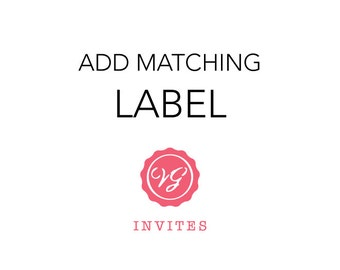 Add On Matching Return Address Label To Your Invitation