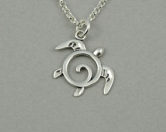 Turtle Necklace - Sterling Silver Sea Turtle Pendant, Ocean Jewelry, Teacher Gifts, Charm Necklace, Trendy Necklaces, Birthday Gift, Charm