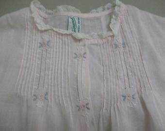 Vintage Baby Dress Light Pink Handmade