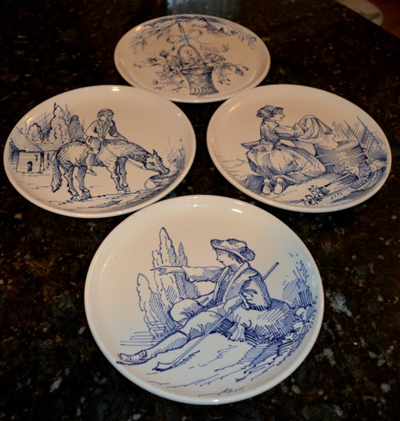 Decorative Wall Plates Italian : Items similar to ethan allen plates made in italy