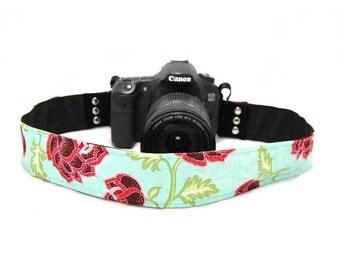 Azalea Teal SLR Camera Strap