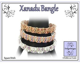Beading Patter, Tutorial, Bangle - XANADU