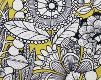 Ghastlie Gardenia by Alexander Henry Fabrics Half Yard Cut
