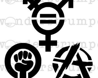 Subversive Symbols Stencil