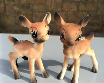 Vintage Bambi-Like Salt and Pepper Shakers