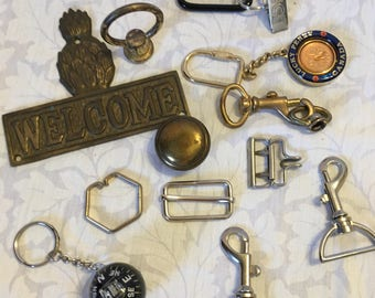 Destash Assortment of Mixed Crafting Supply Steampunk Supply Findings DIY Supply