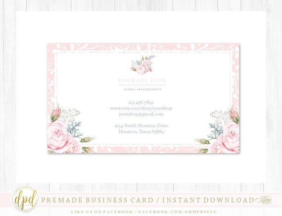 Custom Premade Blank DIY Single Sided Business Card   Business Template   Business Branding   Business Graphics   INSTANT DOWNLOAD-HR923