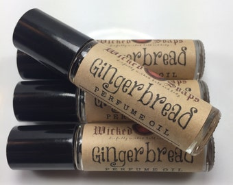 Gingerbread Perfume Oil - Roll On Perfume Oil, Roller Perfume Oil