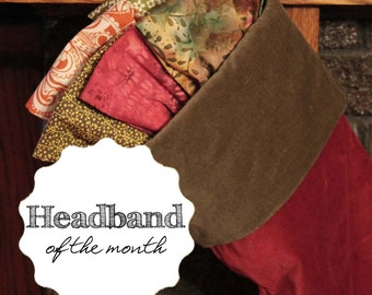 Headband of the Month Christmas Gift Idea Holiday Gift Subscription Stocking Stuffer Gift for Her S M L