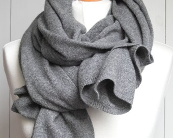 Wool scarf, grey scarf, chunky scarf warm shawl WINTER fashion, gift ideas, winter fashion accessories, gift for her,warm scarf