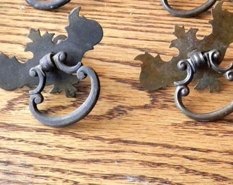 set of six (6) antique ring pulls original vintage
