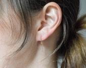 Asymmetrical Threader Earrings in 14k Rose Gold Fill