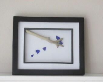 Sea Glass Art Birds, Bluebirds Art, Wall Art, Wall Decor, Birds, Gift for Her, Bird Lover Gift, Outdoor Art, Sea Glass Birds