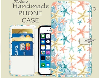 Starfish iPhone case iPhone wallet case iPhone 7 iPhone 7 plus iPhone SE iPhone 6 iPhone 6 Plus iPhone 5s iPhone 5c  iPhone 4