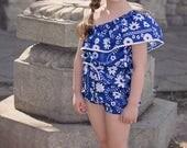 Girls Sunsuit Pattern, Baby Romper Pattern, Romper Sewing Pattern, Asymmetrical Pattern, Easy Sewing Pattern, Top, Dress, & Romper, Havana