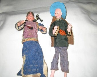 Vintage dolls Asian doll Japanese Chinese