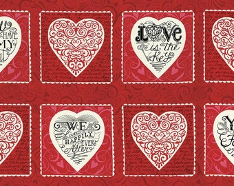 Valentines Panel Red