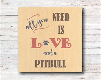 Dog Wall Decor, Pitbull, Dog Breeds, Wood Signs, Rustic, Dog, All You Need Is Love, Dog Home Decor, Home Decor, Living Room