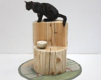 Tree Stump Cat Perch Pet Stand Display Photo Prop