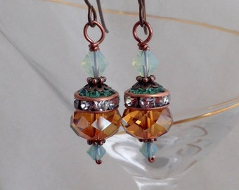 Glamorous Swarovski crystal earrings