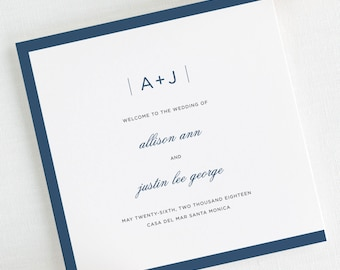Sophisticated Modern Wedding Programs - Deposit