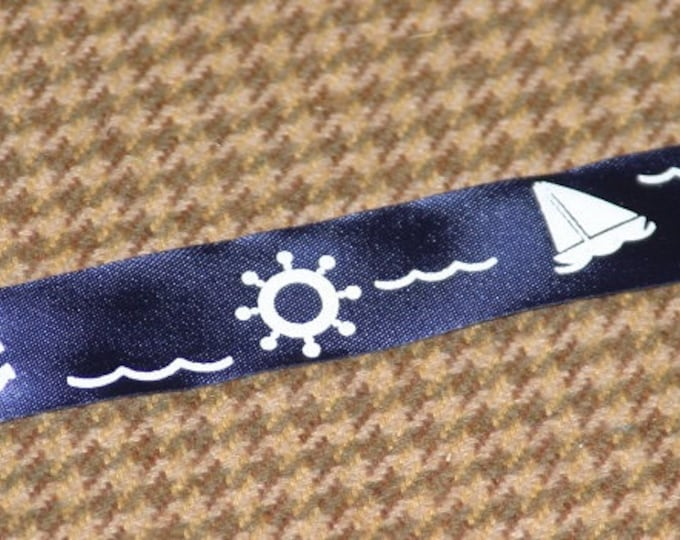 NAUTICAL Ribbon Selection Kit, Gift Satin Ribbons: set of FIVE Ribbons, 3 ft of each (total 15 ft), Made in England RIBBON Kit