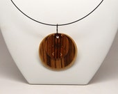 Wood Necklace 4, Abstract Choker Necklace, Minimalist Jewelry
