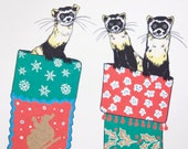 SALE - Ferret Christmas  Boxed Set Holiday - Ferret for Xmas - 50% off