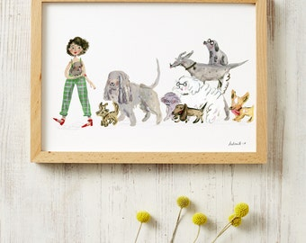 Dog Lovers Print A3 or A4 Poster