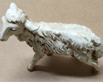 "Vintage Rubber 4"" Lamb---Nativity Lamb---Vintage Collectible Toy"