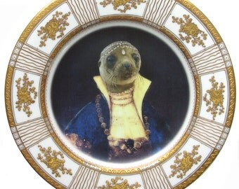 Princess Pinniped of the Caspian Sea Portrait Plate 10""