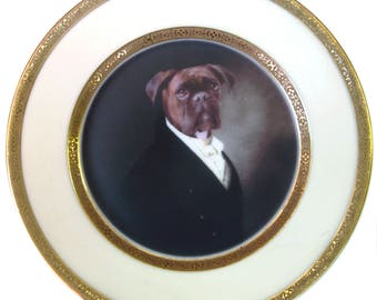 """Portrait of Brutus the Boxer Plate 6.5"""""""
