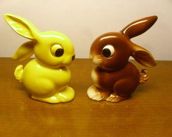 Vintage 1950's  Goebel  Bunny  Rabbits   OH 20    Set Of 2