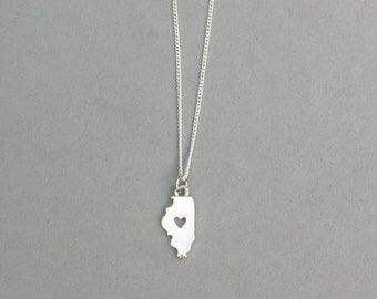 I Heart Illinois necklace