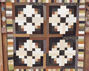 Log Cabin Quilted Wallhanging