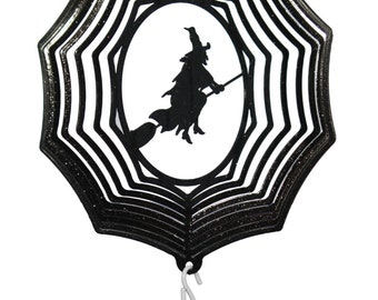 Witch COMBO Mini Swirly Metal Wind Spinner
